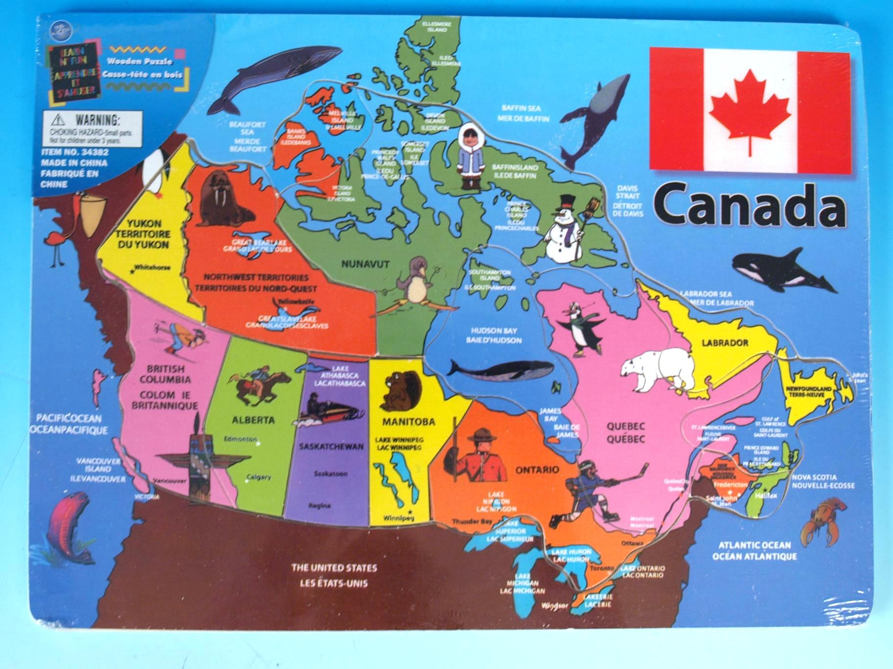 Canadian History Education Emporium - Labeled map of canada